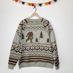 Lucky Brand Big Foot Fleece Crewneck Sweater XL